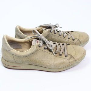 Ecco Hydromax gray distressed leather golf shoe